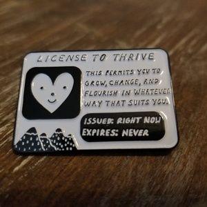 Enamel Pin - License to Thrive